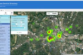 Mapping Dentistry in Nashville, TN.